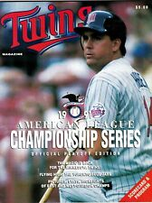 1991 ALCS Program Minnesota Twins vs Toronto Blue Jays Kent Hrbek Cover jmc2