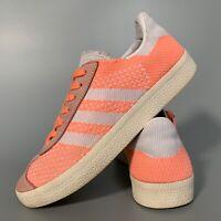 Adidas Gazelle Primeknit Women's Shoes Size Uk 4 Orange Casual Trainers EU 36.5