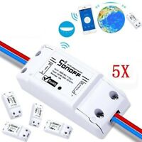 5 PCS Sonoff WiFi Smart Switch Timer APP Fernbedienung Steckdose für iOS Android