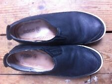 ECCO SHOES CHASE II SLIP-ONS BLACK LEATHER  sz: 38  5