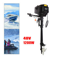 48V Electric Outboard MotorTrolling Canoes Boat Engine Long Shaft 3000RPM USA