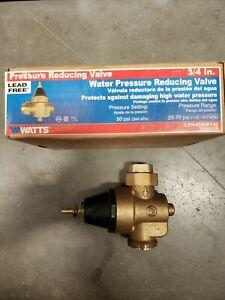 "Watts 3/4 LFN45BM1-U 3/4"" Pressure Reducing Valve"