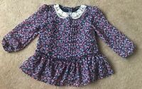George Girls Floral Tunic Style Top Long Sleeved Size 2-3 Years