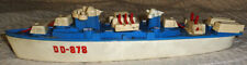 "New listing Vintage 1960s Ideal plastic Dd-878 toy ship boat destroyer 15"""