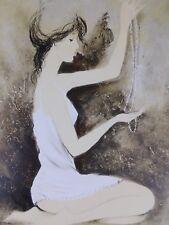 Lithografie Bernard Charoy - Marie Francoise au Collier