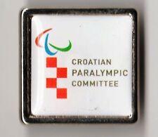 RIO 2016. PARALYMPIC GAMES NOC PIN. CROATIA