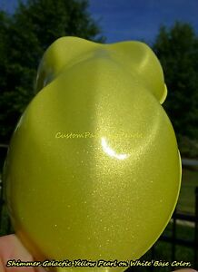 25g Shimmer Galactic Yellow Pearl Pigment Automotive Lacquer Acrylic