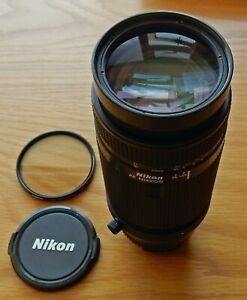 NIKON MINTY 75-300mm f4.5-5.6 AF ZOOM LENS + HAMA HR:SKY 62mm ( IX ) FILTER