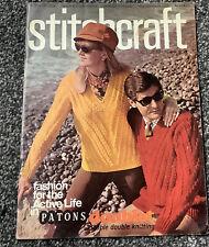 Stitchcraft Magazine October 1968 No.418 Retro Vintage Knitting Crochet Patterns