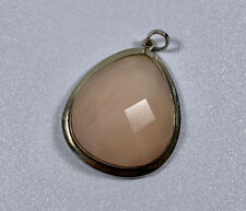 925 Sterling Silver Pendant With Rose Quartz
