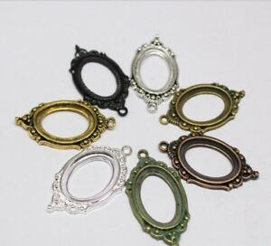 6pcs Oval Base Setting 18x25mm Trays, Necklace Pendant, Fit  Oval Cabochon