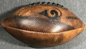 Official NFL ST. Louis Rams Wilson Football Ball WTF1529 (used) Los Angeles LA