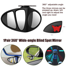 Pair 360° Car Wide-angle Blind Spot Remove Mirror Auxiliary Rearview Mirror Safe