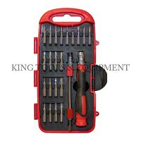 KING 23 PC Precision Screwdriver & Bits Set, Flexible Bar, Phone Computer Repair