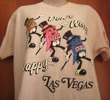 CARTOON SLOT MACHINES lrg T shirt Don't Worry Be Happy kitschy Las Vegas 1989