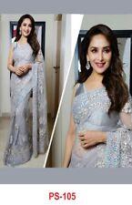 Net Fabric Designer Saree Indian Pakistani Women Bollywood Ethnic Sari PS-105