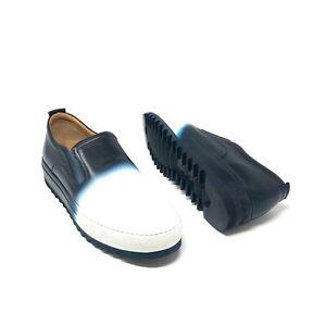 Salvatore Ferragamo Men's LUCCA Blue & White Extreme Comfort Light Leather Shoes