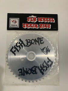 FISHBONE  SPROCKET 44T SILVER NEW OLD SCHOOL BICYCLE BMX