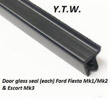 Ford Fiesta MK 2 außen Dichtleiste/Türdichtung Druckschalter/schwarz x 1m