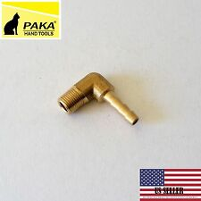 "5/16""  HOSE BARB ELBOW X 1/8 MALE NPT Brass Pipe Fitting Thread Gas Fuel water"