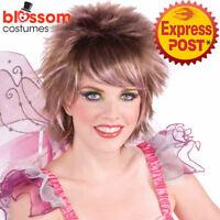 W599 Summer Fairy Short Spikey Pink Costume Hair Wig Tinkerbell Pixie Fairytale