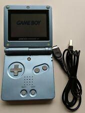 Nintendo Game Boy Advance SP pearl blue + NEW USB + NEW battery