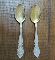 LOT OF 2 HandPolished Sterling Silver 1904 Worlds Fair St. Louis Collector Spoon
