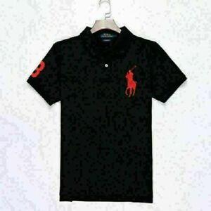 New Mens Polo Shirt T-Shirt Top Short Sleeve Contrast Colours S-XXL