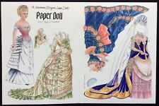 A German Bisque Doll Paper Doll, Peggy Jo Rosamond Artist, Mag. Color Plate 1990