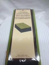 """(2) Harvey Lewis 2-Compartment Organizer Global Limited Green 7.5""""x12""""x5"""""""
