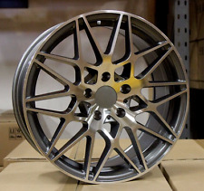 "18"" ALLOY WHEELS FITS BMW M3 E90 STAGGERED GUNMETAL POLISHED"
