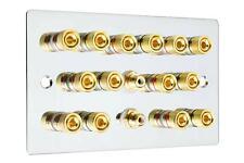 LASTRA PIANA 7.2 Speaker Wall Face PLATE SPECCHIO CHROME vincolante posti AUDIO RCA