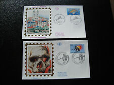 FRANCE- 2 enveloppes 1er jour 1992 (homme de tautavel-niort) (cy21) french