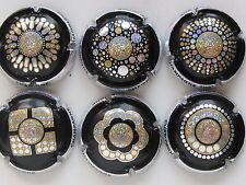 New. Série de 6  capsules de Champagne, PAILLETTES