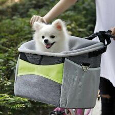 Bicycle Pet Carrier Dog Bike Front Carrier with Small Pockets Bicycle Handl Z1B1