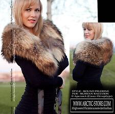 NEW Russian Raccoon Fur Pelerine Cape Collar Russian Women Winter / Arctic-store