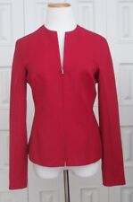$1690 Italy Gianni Versace Couture Red 100% Wool Fitted Career Blazer Jacket 6 S
