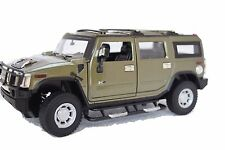 HUMMER H2 DIE CAST COLLECTIBLE MODEL SCALE 1:24 (ARMY GREEN)