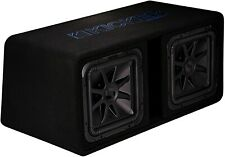 "Kicker 44Dl7S122 Car 12"" Dual Preloaded Solo-Baric L7S Subwoofers Enclosure Box"
