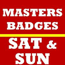 2 SATURDAY SUNDAY MASTERS GOLF TICKETS~ 2020 AUGUSTA NATIONAL BADGES~ 4/11 4/12