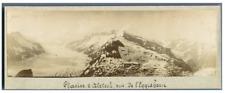 Suisse, Vue de l'Eggishorn, Glacier d'Aletsch Vintage print.  Tirage