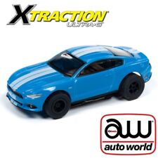 Auto World Xtraction R26 2016 Ford Mustang Gt Blue Ho Slot Car Afx Aurora Tomy