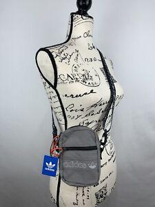 Adidas Unisex Crossbody Travel Bag Small Gray New