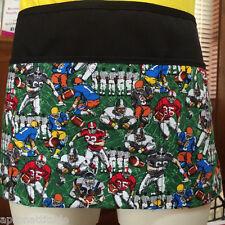 Black novelty print 3 pocket waist apron restaurant server waitress apronattitu