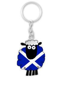 Scottish Saltire St. Andrews Flag Cartoon Sheep Scotland Bag Purse Keyring Charm