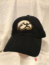 super popular ce66d 11076 GORGEOUS Iowa Hawkeyes Black Adult One Size Spandex Fitted Hat, NEW NICE!