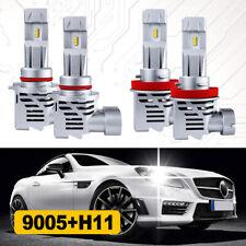Combo 9005 H11 LED Headlight Kit Bulbs High Low Beam 6000K White 240W 48000LM M3