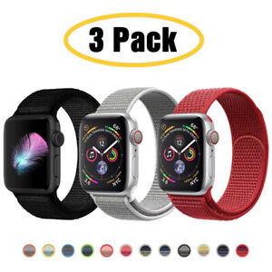 For Apple Watch Series 6 5 4 3-1 SE 40/44mm Nylon Sport Band iWatch Strap 3 PACK