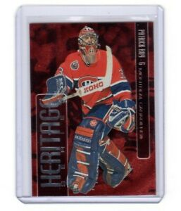 1999/00 ITG BAP Heritage  Red Paralell *Patrick Roy* card # H-10 #/D0397 of 1000
