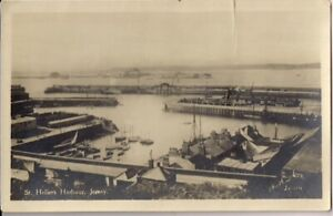 VERY NICE OLD R/P POSTCARD - HARBOUR - ST. HELIER - JERSEY C.1937